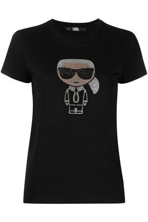 Karl Lagerfeld Camiseta con detalles de cristales