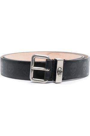 Alexander McQueen Cinturón con estampado de calaveras