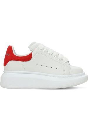 Alexander McQueen | Niño Sneakers De Piel Con Cordones /rojo 33