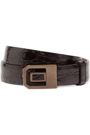Dolce & Gabbana Cinturón con hebilla y efecto arrugado