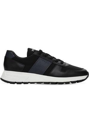 Prada | Hombre Sneakers De Piel Saffiano Y Nylon /baltico 5