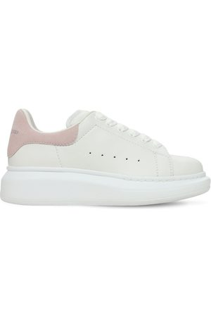 Alexander McQueen | Niña Sneakers De Piel Con Cordones /rosa 33