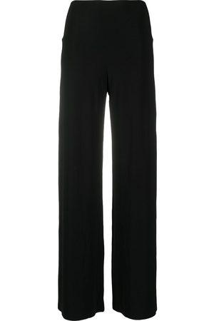 Norma Kamali Pantalones de talle medio anchos