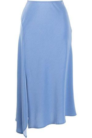 GOODIOUS Mujer Midi - Falda midi con abertura lateral