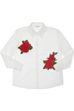Dolce & Gabbana | Niña Camisa De Popelina Con Parches De Rosas 8a