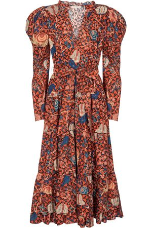ULLA JOHNSON Vestido midi Nanette de algodón floral
