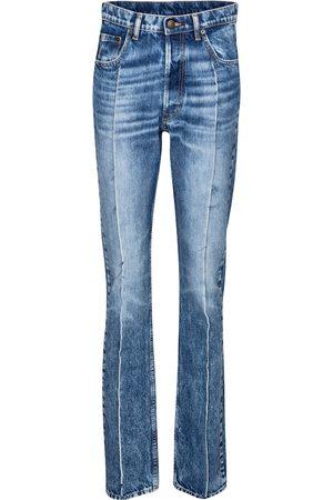 Maison Margiela Jeans ajustados de tiro alto