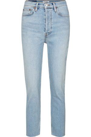 RE/DONE Jeans ajustados 90s de tiro alto