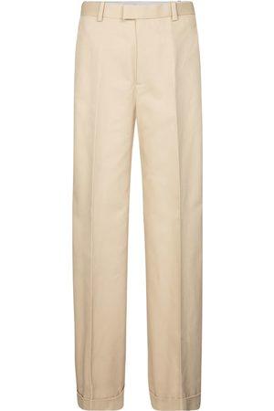 Bottega Veneta Pantalones anchos de algodón