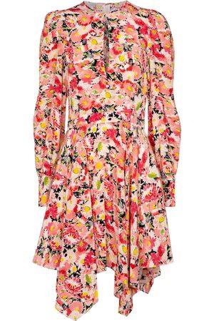 Stella McCartney Vestido midi Felicity de crepé de seda
