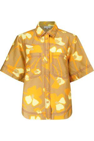 Lee Mathews Camisa Wren en mezcla de lino