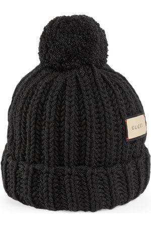 Gucci Mujer Sombreros - Sombrero tejido en lana con etiqueta