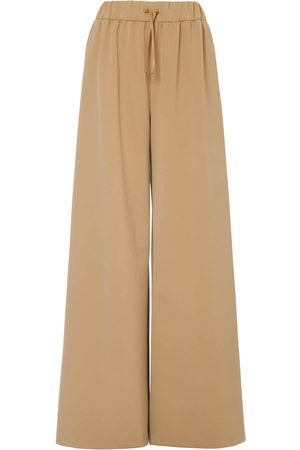 Max Mara | Mujer Pantalones Anchos De Nylon Stretch 36