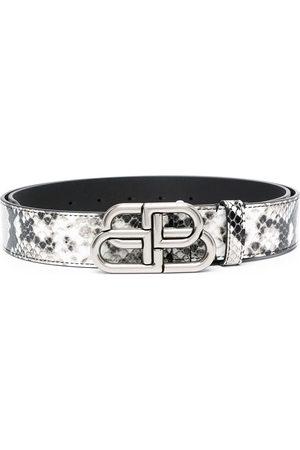 Balenciaga Cinturón con efecto de piel de serpiente