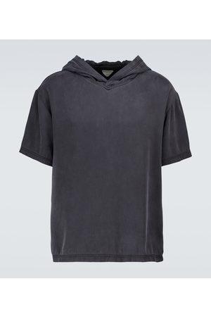 Bottega Veneta Camiseta de seda con capucha