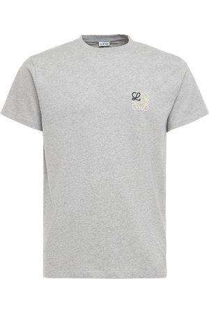 Loewe   Hombre Camiseta De Algodón Jersey Con Logo Bordado Xs
