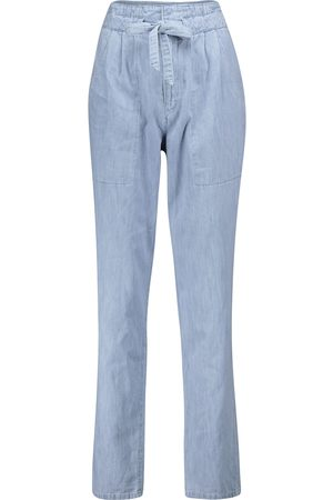 Isabel Marant, Étoile Jeans ajustados Muardo de tiro alto
