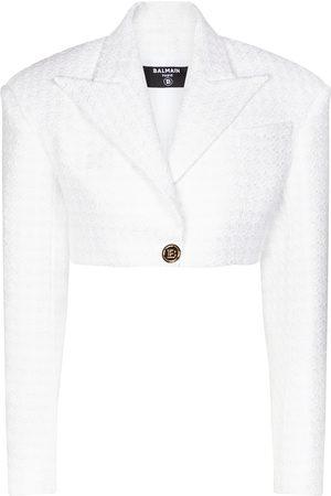 Balmain Blazer de tweed en mezcla de algodón