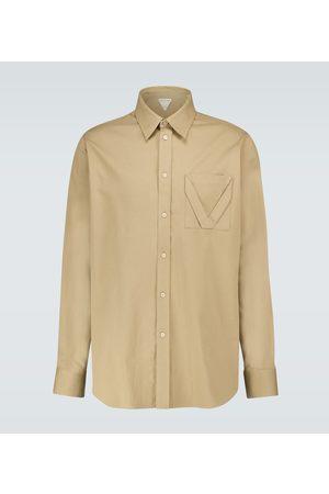Bottega Veneta Camisa de jacquard de algodón