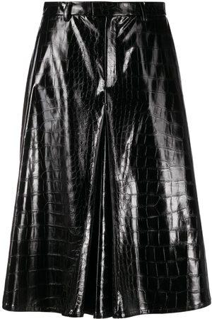 Maison Margiela Mujer Bermudas - Pantalones cortos de piel artificial