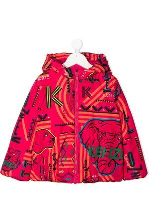 Kenzo Niña Bomber - Chaqueta con capucha y logo