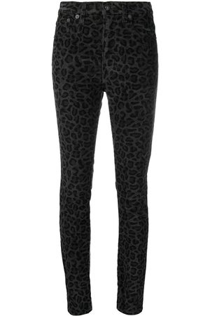 R13 Vaqueros skinny con estampado de leopardo