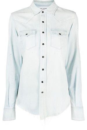 Saint Laurent Camisa vaquera con botones