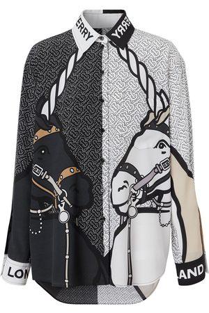 Burberry Camisa con estampado de unicornios