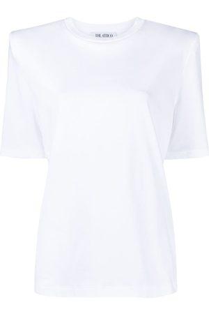 The Attico Camiseta con hombros acolchados
