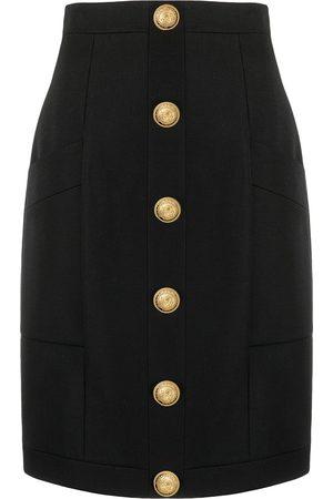 Balmain Falda con botones