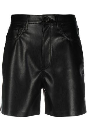 Nanushka Shorts de piel artificial