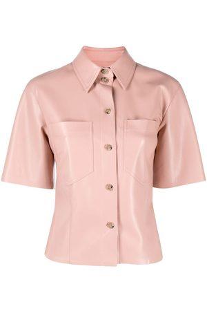 Nanushka Camisa de piel artificial