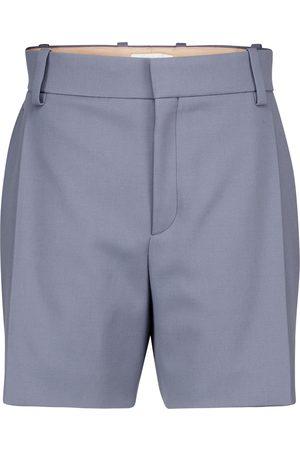 Chloé Shorts de sarga de lana