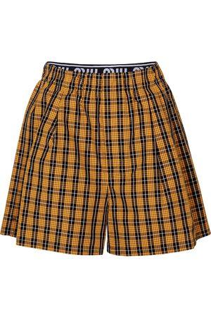 Miu Miu Shorts de algodón a cuadros