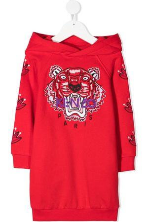 Kenzo Niña Vestidos - Signature Tiger motif sweatshirt dress