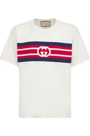 "Gucci | Hombre Camiseta ""gg"" De Algodón Estampada Xs"