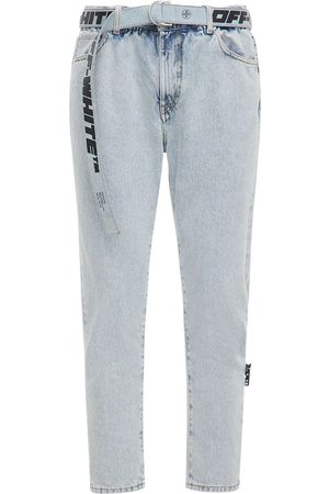 OFF-WHITE | Hombre Jeans De Tiro Bajo Slim Fit De Denim Decolorado 33