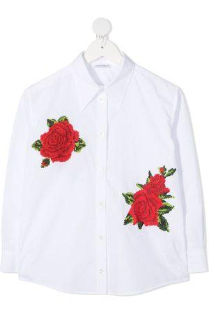 Dolce & Gabbana Camisa con bordado de rosas