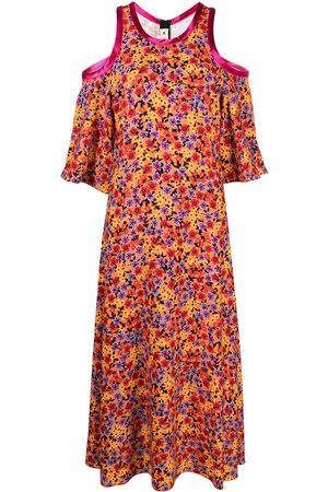 Marni Vestido con motivo floral y hombro descubierto
