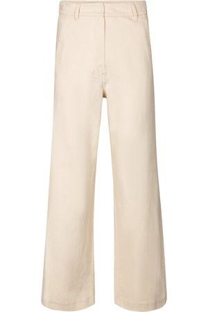 Max Mara Pantalones cropped Sesto de algodón