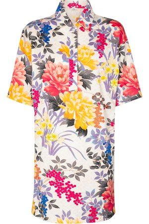 Etro Vestido corto de algodón floral