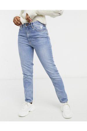 MiH Jeans Vaqueros azul medio lavado de tiro alto y pernera recta Mimi de Mih