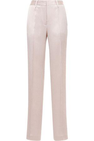 OFF-WHITE | Mujer Pantalones Anchos De Satén Arrugados 36