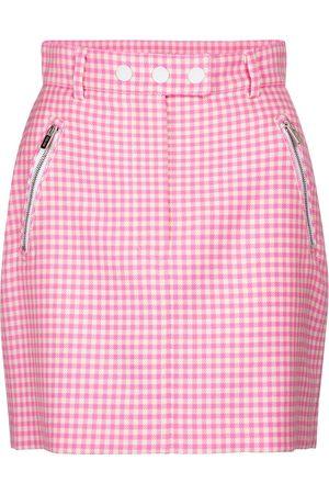 Miu Miu Minifalda de lana a cuadros