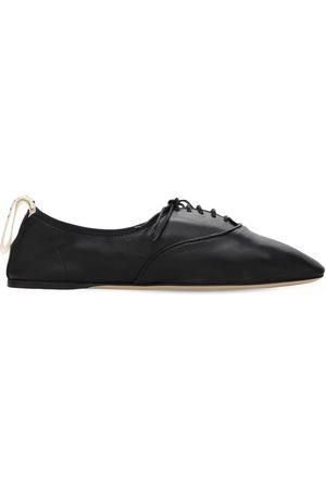 Loewe | Mujer Zapatos Planos Con Cordones De Piel Suave 10mm 40