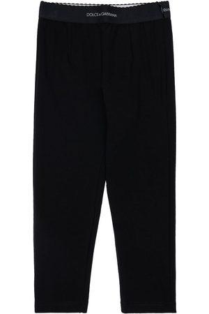 Dolce & Gabbana   Niña Leggings De Algodón Interlock 3a