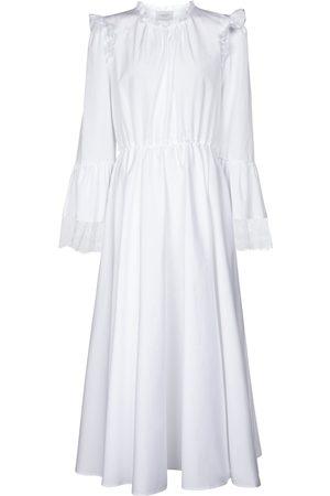 Giambattista Valli Vestido midi de algodón con encaje
