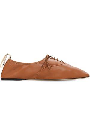 Loewe Mujer Planos - | Mujer Zapatos Planos Con Cordones De Piel Suave 10mm 40