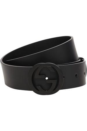 Gucci Hombre Cinturones - | Hombre Cinturón De Piel Con Hebilla Gg 37mm 80