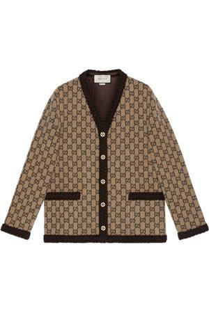 Gucci Mujer Chaqueta de punto - Cárdigan de punto de lana con GG